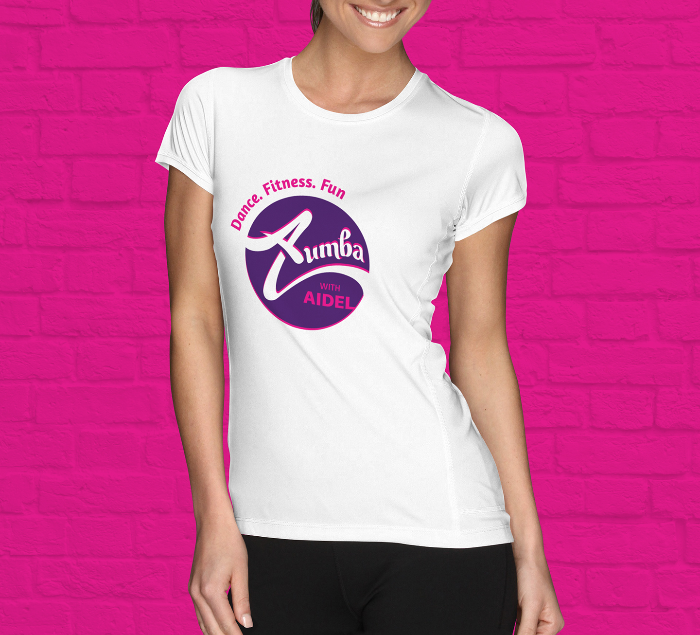 Design t shirt zumba - Zumba With Aidel